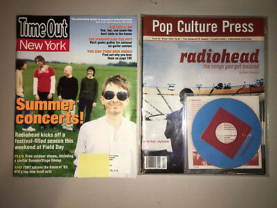 Radiohead Rare Cover Magazine Lot Time Out NY 401 & Pop Culture Press with CD