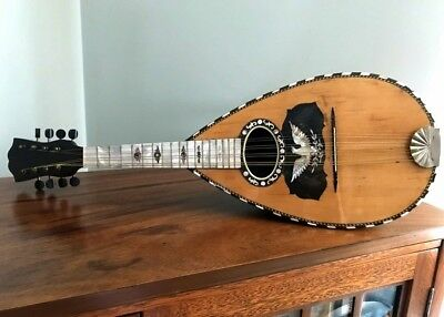TWO MOP Inlay bowl back Eagle & Butterfly MANDOLINS & 1 Case