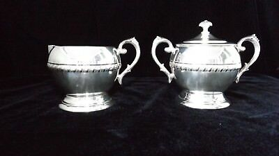 Federal Sugar and Creamer Silver (plate) Set, Lovely shine, EUC!