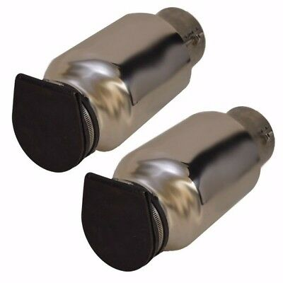 Corsa 12650-1T 4 Inch Boat Exhaust Tip  (Pair) For Baja and Fountain Boats