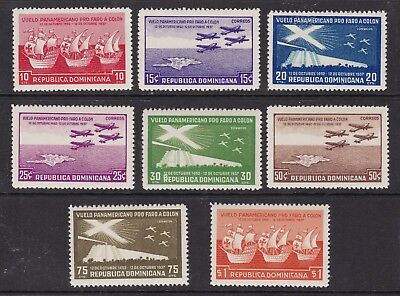 DOMINICA ^^^^^^AIRPOSTS  YT PA#29-36 mint LH SET  ( Colombus)$77.00@lar4760dom