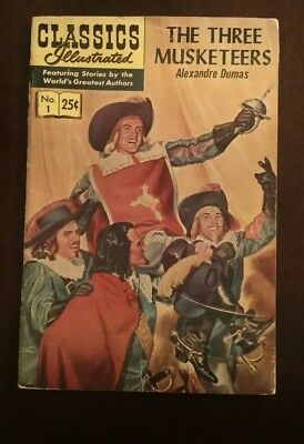 Classic Illustrated #1High Grade Issue- The Three Musketeers HRN 166