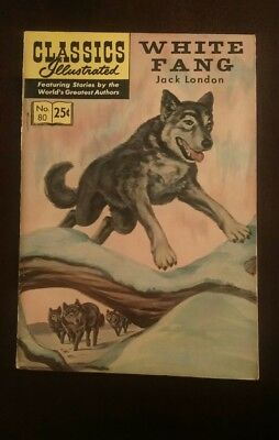 Classic Illustrated #80 High Grade Issue- White Fang HRN 169