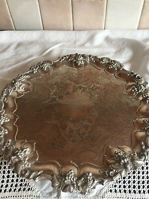 Victorian silver plated card tray