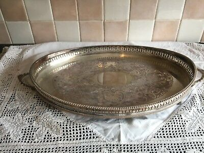 Silver plated galley edged tray