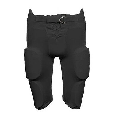 Martin YOUTH Football Practice / Game Pants with Integrated 7 Pc Pad Set, Black