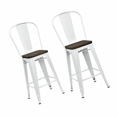 Wondrous Dhp Luxor Metal Counter Stool With Wood Seat And Backrest Ocoug Best Dining Table And Chair Ideas Images Ocougorg