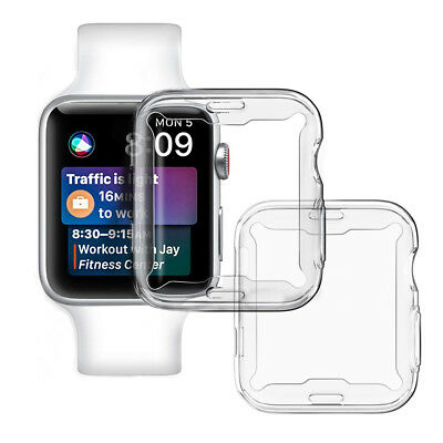Full Cover TPU Slim Clear Case Screen protector For Apple Watch Series 4 (44mm)