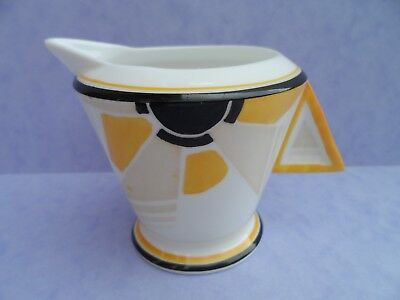 "A Shelley Art Deco ""Sunray"" 11742 Vogue shape cream jug. C.1930."