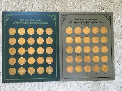 Franklin Mint Antique Car Coin Collection Series #2 and #3. 50 Coins. Complete.