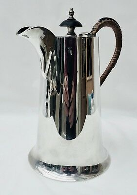 Stylish Hallmarked Sterling Silver Water/Coffee Jug by Walker & Hall c.422 grams
