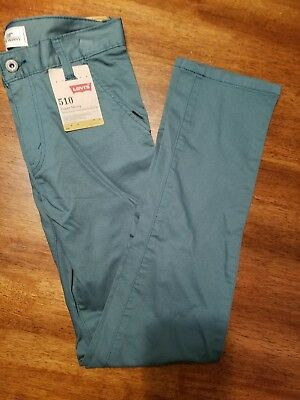 BRAND NEW MSRP$48 Size 16 28x28 510 LEVI'S Super Skinny Fit Waterfront Green
