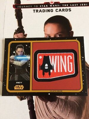 Star Wars Journey To The Last Jedi Gold Patch Card - Rey - MP-RE, 04/25. Rare.