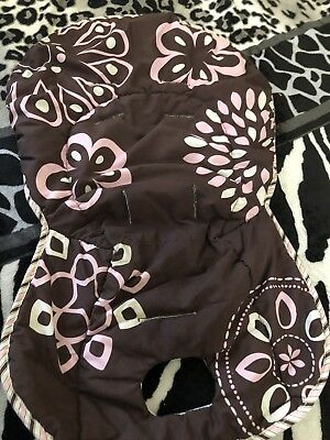 Baby High Chair Cover Pink And Brown
