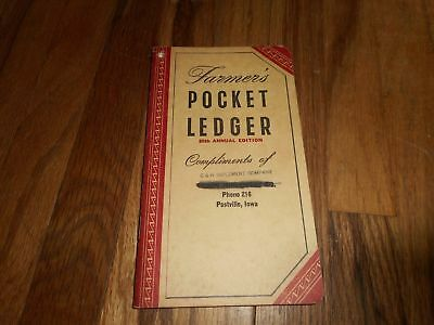John Deere Farmers Pocket Ledger 1952 1953 86th Postville IA JD Farm Advertising