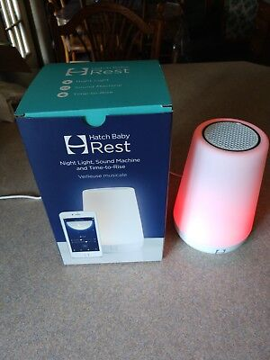 Hatch Baby Rest Night Light Sound Machine and Time-to-Rise White