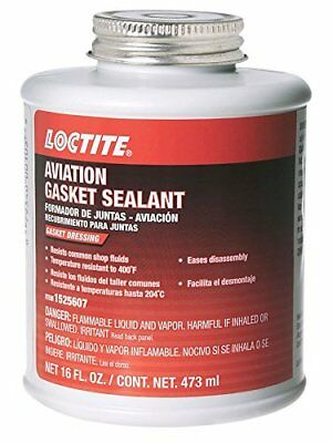 Loctite 1525607 Aviation Gasket Sealant 16oz Brush Top Can, 1 Pack