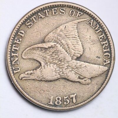 1857 Flying Eagle Small Cent CHOICE VF FREE SHIPPING E101 GNM