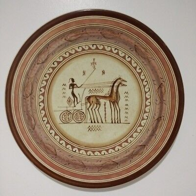 Decorative Keramikos Wall Plate, Handmade and Hand-painted in Athens