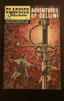 Classic Illustrated #38 High Grade Issue- Adventures of Cellini HRN 169