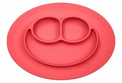 ezpz Mini Mat - One-piece silicone placemat + plate (Coral), One Size Coral