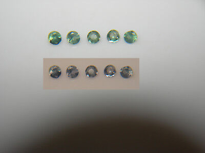 5 Natural Alexandrite gems COLOR CHANGE Green Blue Purple round accents ~ 1.3mm