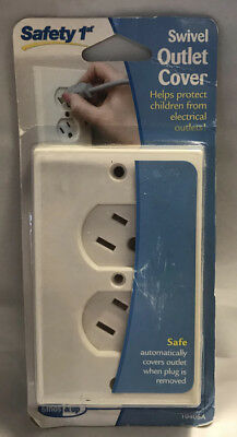 Safety 1st Swivel Outlet Cover White 10406A New! Child Safety
