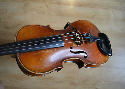 Old 3/4 Violin, Labelled Nicolaus Amatus, One piece back, new strings