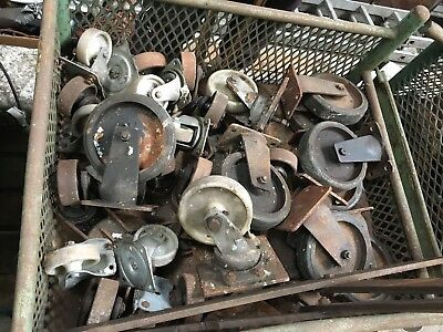Quantity Of Approx 20 X Used Industrial Wheels And Casters, Plastic And Rubber.