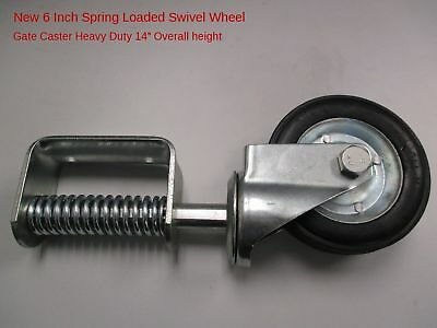 "New 6 Inch Spring Loaded Swivel Wheel Heavy Duty 14"" Overall Height"