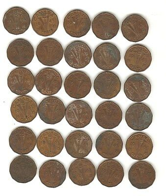 lot of 30- 1943 Canadian Tombac V nickels