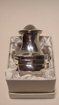 Antique English Sterling Silver  Art Deco Georgian pepperette or pepper pot