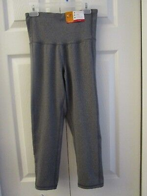 5445fbb9228a NWT C9 Champion FITTED High Waist CAPRI Leggings Pants Gray S
