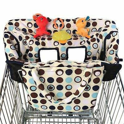 Crocnfrog 2-in-1 Shopping Cart Cover   High Chair Cover for Baby   Medium