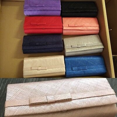 Joblot Wholesale Sinamay Clutch Bags Handbag Assorted Colors