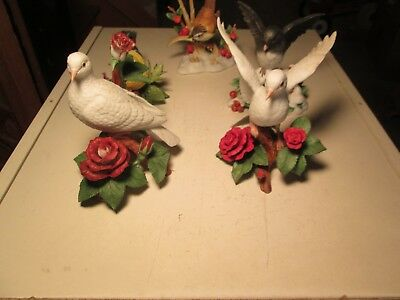 TF8 Lot of 5 Lenox Porcelain Birds Goldfinch Marsh Wren Christmas Dove