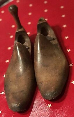 Antique Wooden Shoe Lasts Hinged -one Peg Missing