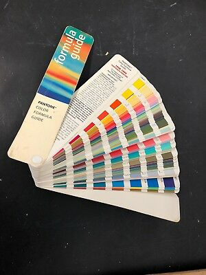 Vtg Pantone Color Formula Guide 13th Edition 1998 1999 colour Swatch Fan Deck