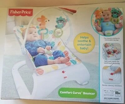 Fisher-Price Comfort Curve Bouncer, Multi Color, New Other