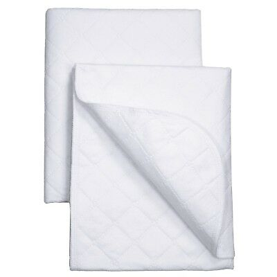 Carter's Keep Me Dry Water Resistant Mattress Protector Pad, White Off white