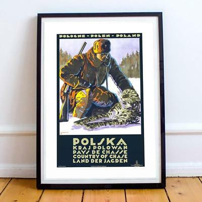 Poland Hunting 005 22x34 INCHES VINTAGE TRAVEL POSTER