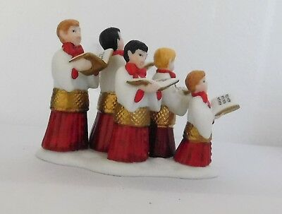 Dept 56 CHOIRBOYS ALL IN A ROW Porcelain Figurines Lot C4