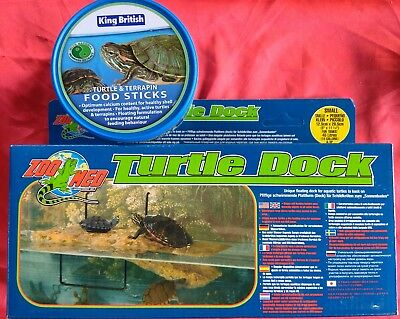 zoomed floating turtle dock (sm) and KB 110g turtle food sticks