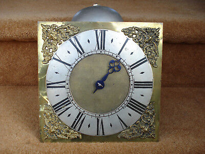 Early Primitive Quaker Brass Dial Iron Birdcage 30 Hour Longcase Clock Movement