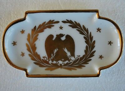Limoges eagle gold pin trinket tray dish wreath France