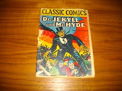 Classic Comics / Illustrated 13 Dr. Jekyll Mr. Hyde 1940's
