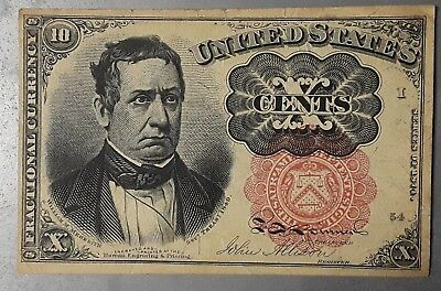 Series 1874 Us 10 Cent Fractional Currency Note
