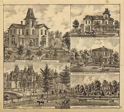 184 old maps 1874 ATLAS STATE MINNESOTA lithographs GENEALOGY land owner DVD A42