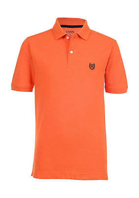 Chaps Solid Polo Short Sleeve 100% Cotton Shirt - Boys 8-20