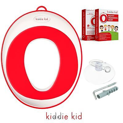 Kiddie Kid- Potty training seat for toddlers and kids, (Red, Unisex) urine sp...